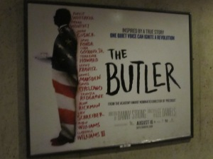 "Poster for the movie, ""The Butler"", at the Georgia Avenue Metro Station."