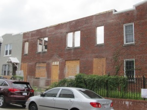 The front facade of 610 Newton Place. July 28, 2013.