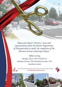 Sherman Ribbon cutting