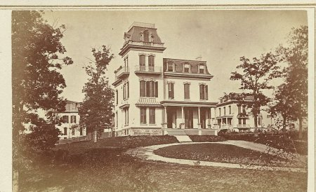 The Oliver Otis Howard house ca. 1870. From the author's collection.