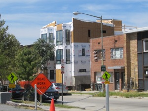 715 Kenyon in mid-construction.