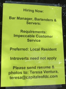 York Patio is already seeking staff for their relaunching.