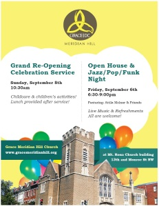 Click for printable version of the open house flyer.