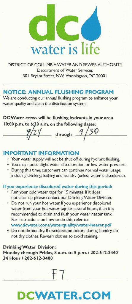 2013 hydrant flushing
