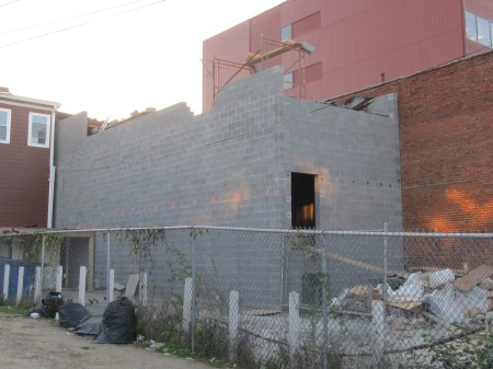 The rear of 3622 Georgia. No longer just a stack of cinder blocks.