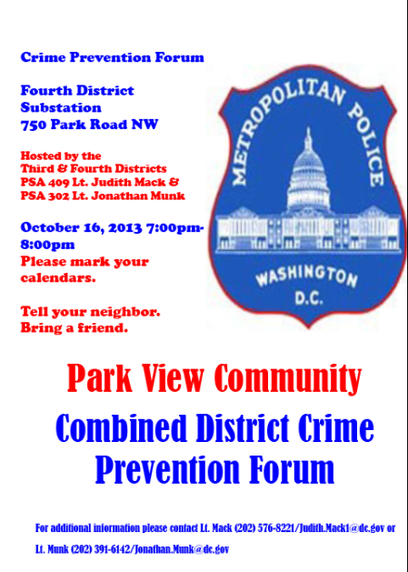 Oct 16 crime meeting flyer