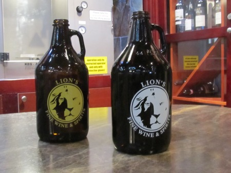 Don't have a growler bottle? No problem, you can get one at Lion's.