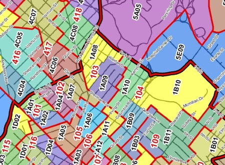 Proposed new precincts detail