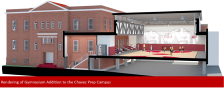 Chavez Prep Gym rendering