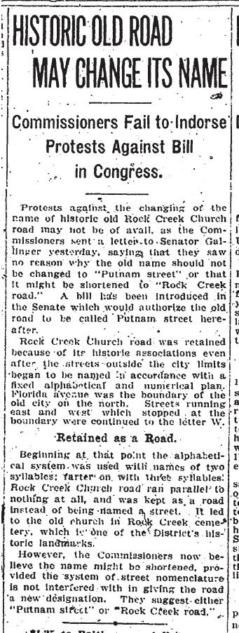 Name change for RCCR Jan 1 1911 Evening Star