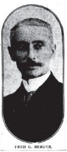 Fred G. Berger, builder of 2423 13th Street, NW.