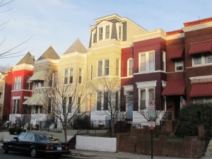 A rowhouse on the 3600 block of 10th Street, NW, showing a very successful pop-up.