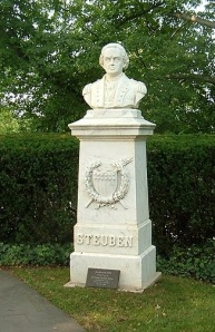 The Steuben monument today, on the grounds of the German Ambassador's residence.