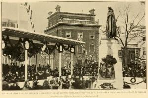 Unveiling of von Steuben memorial, Layfatette Park, 1910.