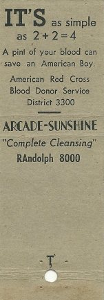 Arcade Sunshine Matchbook 2 reverse