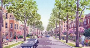 2007 rendering of envisioned redeveloped Park Morton.