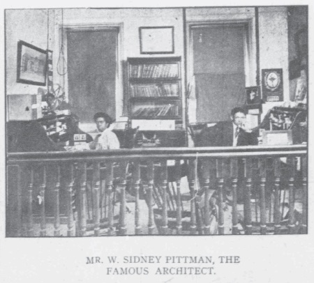W. Sidney Pittman in his office 1908