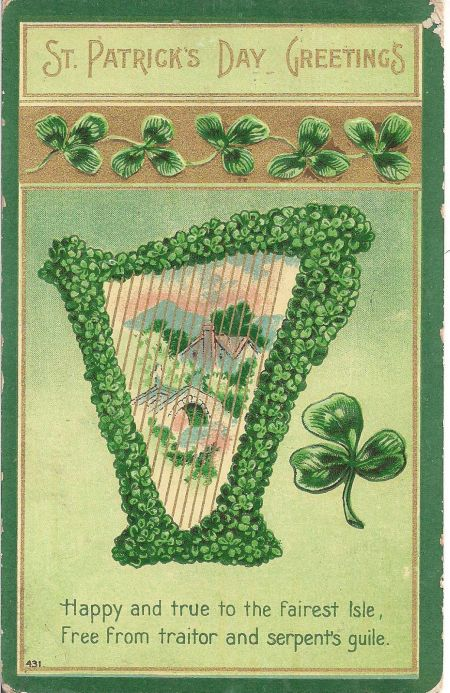 St Patricks postcard 1910