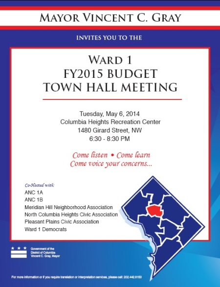 2014 Budget Town Hall meeting