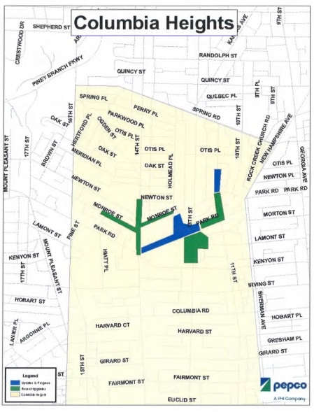 Columbia Heights Pepco map 2014