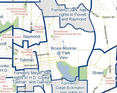 Current Bruce-Monroe Park View boundaries