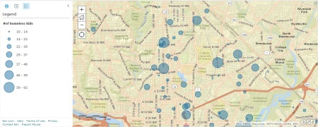 Homeless student map