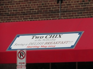 Two Chix banner at Mothership.