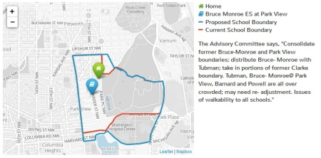 School Boundary map
