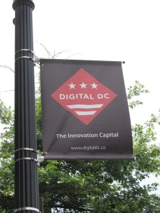 New Digital DC banner on Georgia Avenue.