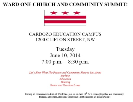 Ward 1 Church and Community Summit Flyer