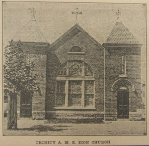 The Trinity AME Zion Church in 1906, shortly after completion.