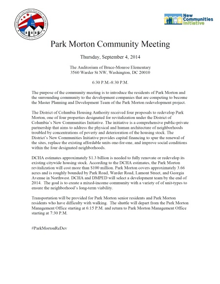 Park Morton Meeting sept 4