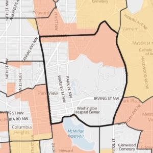 Park View Elementary boundaries map