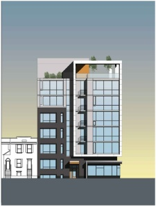 Princeton Place elevation from BZA application for 3619 Georgia Avenue.