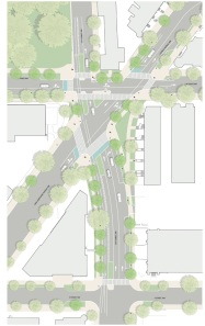 The improvements to 15th Street will not only make the intersection with Forlida Avenue safer, but also include bioretention bumpouts and the creation of additional greenspace.