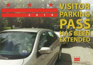 Visitor Parking Pass flier