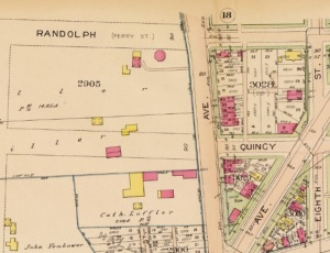 Detail from Baist map showing location of Octagon house, located where the Safeway now stands.