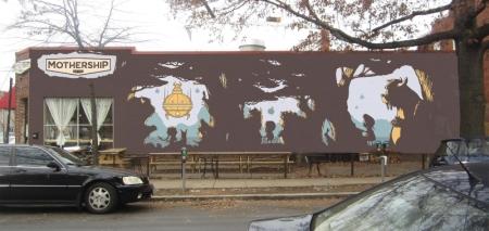 Mothership mural