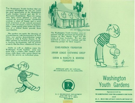 Washington Youth Garden brochure
