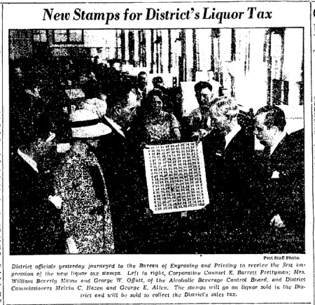 Alcoholic beverage stamps May 19, 1934