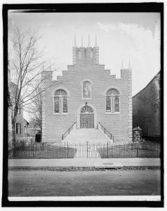 The Park View Christian Church photographed ca. 1920 (Image from Library of Congress).