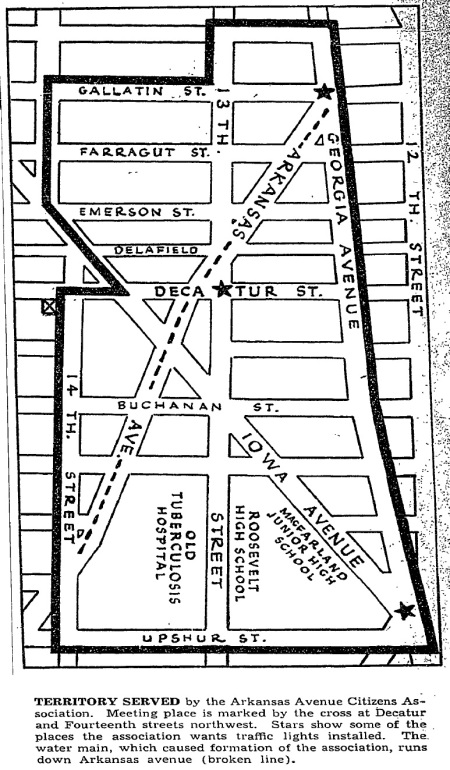 Arkansas Avenue Citizens Assoc map