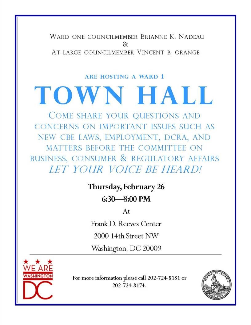 Town Hall Meeting On Thursday Focusing On Dcra And Abra Park View