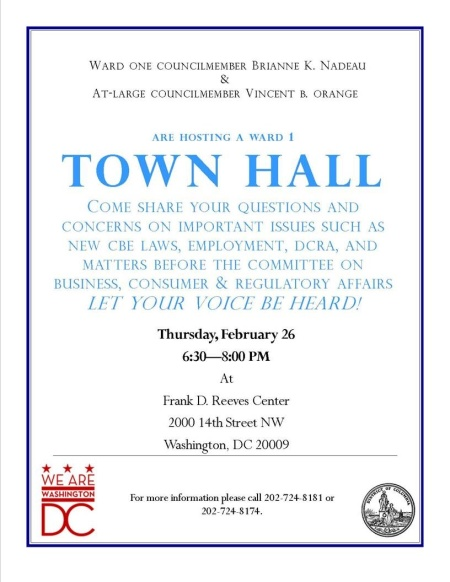 DCRA Town Hall