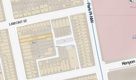 3223 Warder map