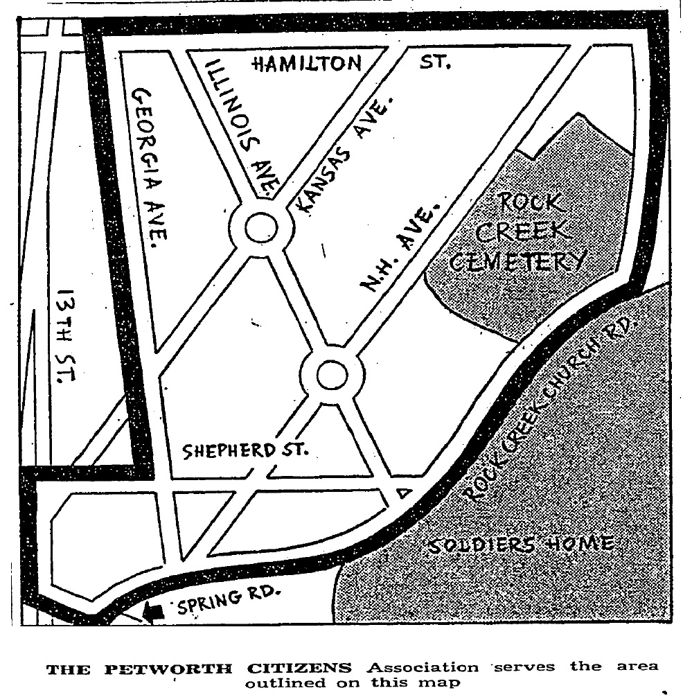 Petworth Dc Map.Historic Neighborhood Groups Petworth Citizens Association Park