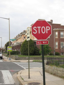 New stop sign on Warder.