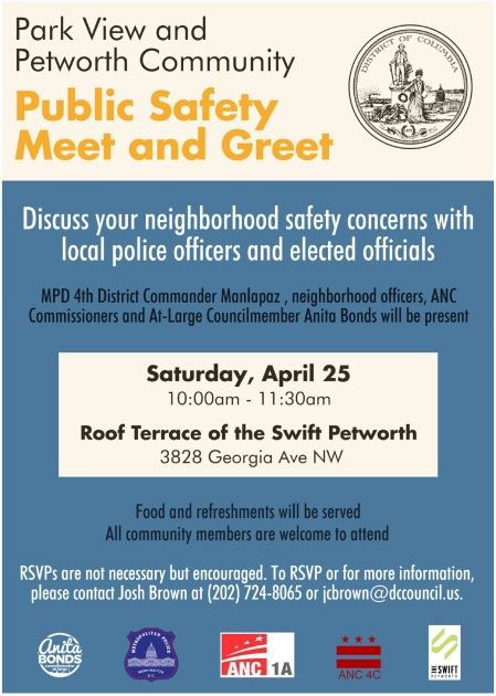 Park View Petworth Public Safety meeting