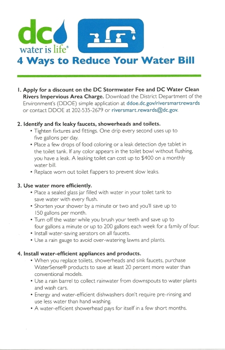 DC water 4 ways to save