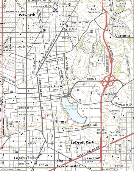 2014 Park View Map with road classifications